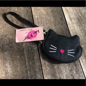 NWT Luv Betsey by Betsey Johnson Cat Coin Purse